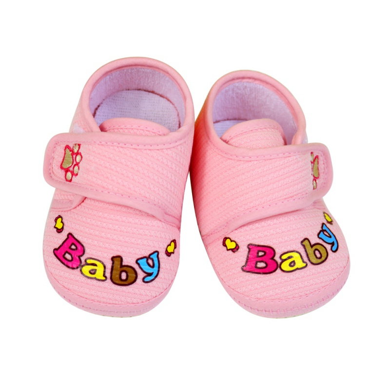 Toddler Newborn Shoes Baby Infant Kids Cartoon Shoes Boy Girl Soft Sole First Walkers Canvas Sneaker 0-12Months