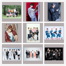 BTS Band Poster Wandaufkleber White Paper Prints Home Dekoration