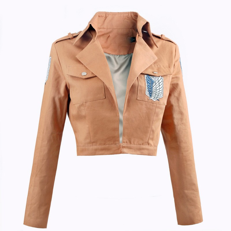 Impartial Anime Attack On Titan Cosplay Shingeki No Kyojin Cosplay Costume Adult Brown Jacket For Halloween/carnival/show/party Costumes Rich In Poetic And Pictorial Splendor
