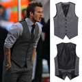 New suit V-Necke vest men fashion brand slim wedding banquet gentleman dress suit men's waistcoat blazer vests tops clothing