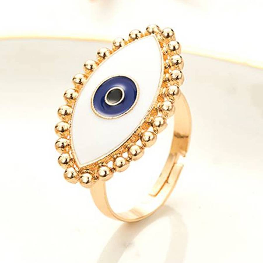 Hot Discount 1b2c Punk Enamel Anel Ring Anillos Turkish Evil Eye Rings Jewelry Best Friends Couple Charm Decors Fashion Designer Adjustable Band Ng Reamichaelkorsvaska Se