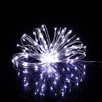 5 шт. 20 м 200LED серебряной проволоки Строка Фея Света Рождество открытый украшения 12 В