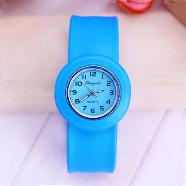 free shipping High Quality silicone slap watch, kids slap watch children watches