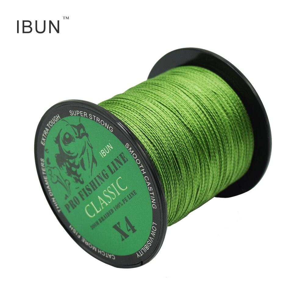 купить IBUN 300m/500m Braided PE Fishing Line Super Strong 4 Strands Fish Wire For Sea Fishing Carp Brand Fish Rope Cord Peche по цене 339.31 рублей