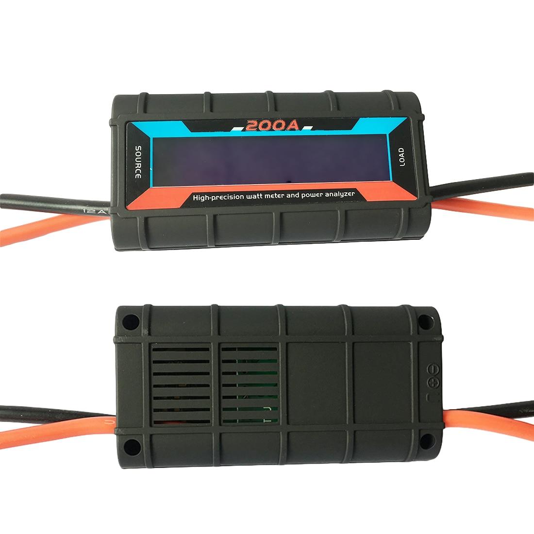 200A High Precision Power Meter 0-60V LCD Display Watt Meter Voltage Current Meter Aeromodelling Power Meter direct selling rw7 10 200a outdoor high voltage 10kv drop type fuse