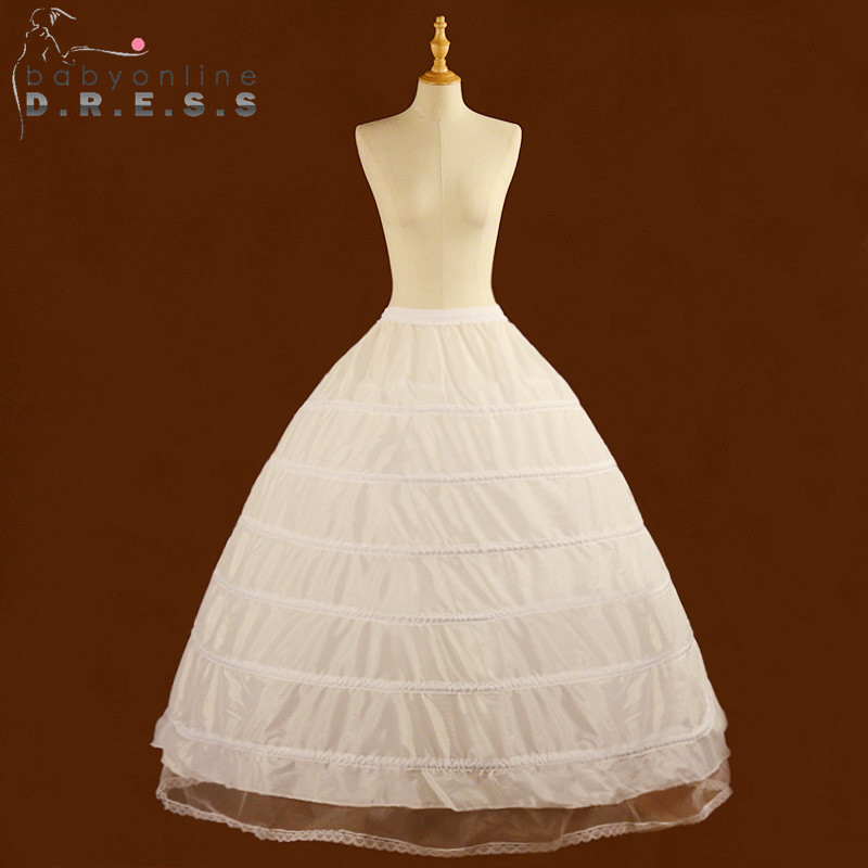 Crinoline Underskirt Wedding-Petticoat Adjustable Ball-Gown Bridal 6-Hoops Cheap Jupon