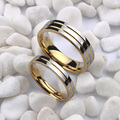 Tamanho 4-12.5 branco banhado a ouro alianças de casamento tungsten anel, anel de casal, anel de noivado, pode gravura (o preço é para um anel)