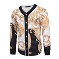 New Design Baroque Style Men Jackets and Coats Hip Hop 3D Print Gold Flower Women Men's Outwear Cardigan Erkek Polar Mont 3XL