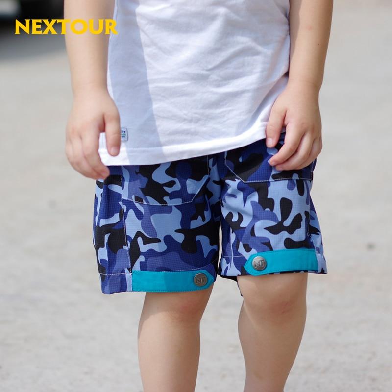 ФОТО NEXTOUR outdoor shorts Kids  Camo  hiking shorts Boys Girls Beach shorts Quick dry Breathable Uv-proof   hiking short trousers