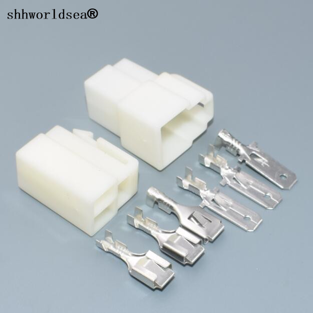 shhworldsea 30Sets 6.3mm 3 pin storage battery electrical connector and Pin  wiring harness plug connectors 6.3 car socket plug|wire harness connectors|socket  carcar wiring harness - AliExpresswww.aliexpress.com