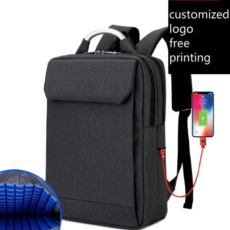Backpack Mens Multifunction Notebook Custom LOGO picture laptop bag Waterproof Business Female School Bag backpack