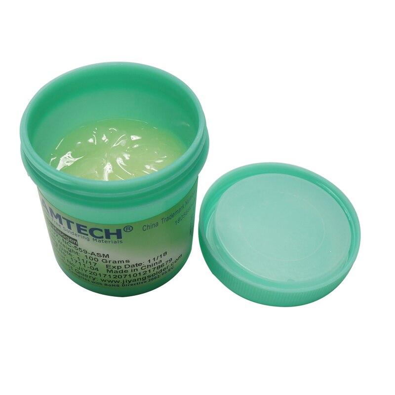 100% Originale AMTECH NC-100g Piombo-Free Solder Flux Paste Per SMT BGA Reballing Saldatura Saldatura Strumenti di Riparazione No Clean