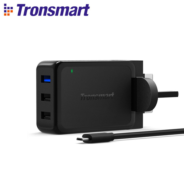 Tronsmart WC3PC Quick Charge 2.0 42W 3 Ports Wall Charger EU US UK QC 2.0 for Xiaomi for Samsung Galaxy S6 S6 Edge for HTC