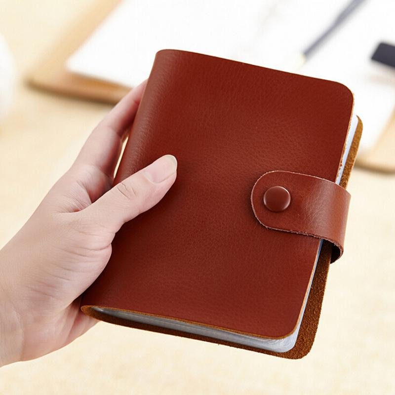 New Fashion 60 card slots Genuine leather business card holder ...