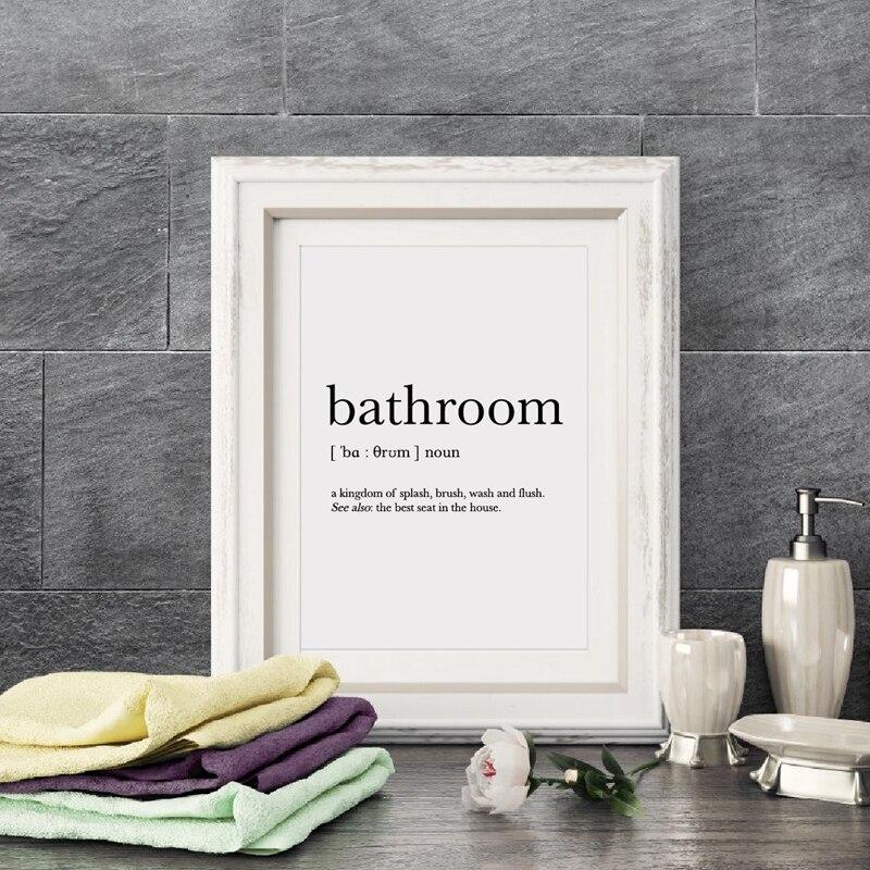 Bathroom Signs Canvas Print