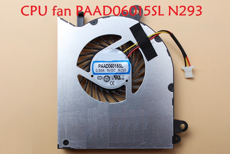 Laptop CPU& GPU Fan For MSI GS60 2QC 2QE 6AK 6QD 6QE PX60 2QD WS60 2OJ 6QC PAAD06015SL-N293 PAAD06015SL-N294 N184 New