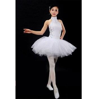Crystal Sequins Halter Ballet Dresses,Adult or Children Dancing Dress Ballet Women White Ballet Tutus Retail Wholesale HB129