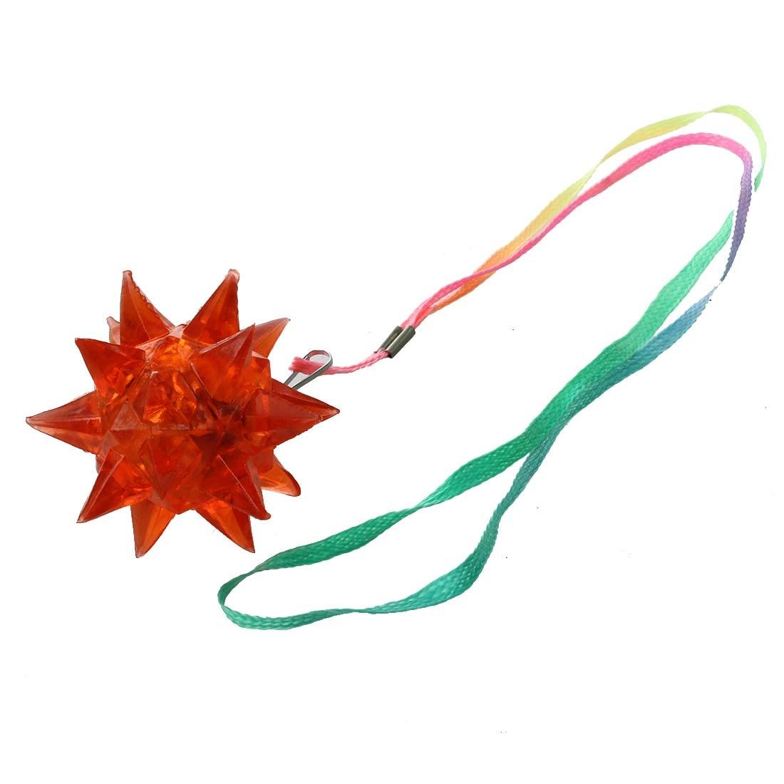 New Light-Up Flashing Star LED Ball Pendant Necklace