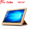high quality PU Leather case For Cube u63 Protective Flip Case Cover For Cube u63gt 9.6 inch tablet pc