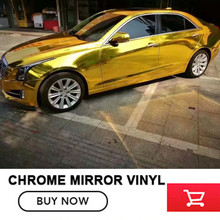 OPLARE Chrome Golden Best Quality Flexible Mirror Chrome Gold Vinyl Car Body Wrap For Car Wrapping