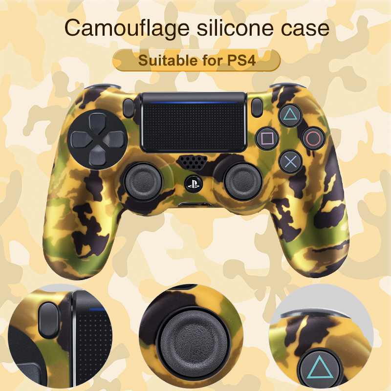 DATA FROG  Soft Flexible Cover Silicone Case Protection Skin For Playstation 4 PS4 Pro Slim Gamepad LED Light Bar Sticker 2 Grip 1