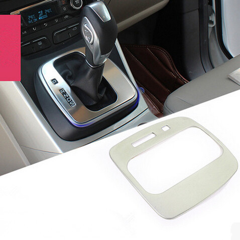 Emaicoca Car styling interior trim Gear Panel circle sticker Gear Shift stainless steel accessory For Ford Kuga Escape 2013-2017