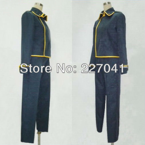 Gintama  Yamazaki Sagaru Cosplay Costume Halloween Cloth Free Shipping
