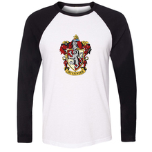 Unisex T-shirt Harry Potter Hogwarts Schule Gryffindor Slytherin Hufflepuff Ravenclaw Muster Langarm Herren T-shirt Tops