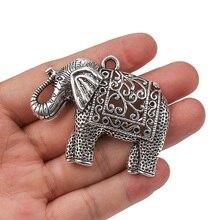 1 шт., Античные Подвески в виде слона из сплава серебра и металла, подвески в виде животных, фурнитура для ювелирных изделий, аксессуары, подходят для самостоятельного изготовления ожерелья