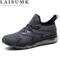 2018 LAISUMK Men Casual Shoes Breathable Lace Up Walking Shoes Spring Lightweight Comfortable Walking Men Shoes