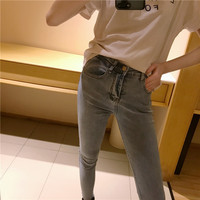 Women jeans Vintage jeans DN skinny pencil pants female ladies summer pants 9N29
