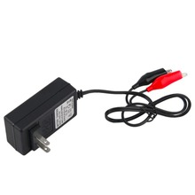 In Stock! 12V 2A Sealed Lead Acid Rechargeable Battery Charger For Car Motor Truck(China)