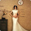 2016 New Maternity Photography Props Lace Dresses For Pregnant Women Gown Pregnancy Clothes Photo Shoot Dress Gravidas