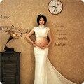 2016 Novos Adereços Fotografia Vestidos de Renda Para As Mulheres Grávidas Vestido de Maternidade Gravidez Roupa Photo Shoot Gestantes Vestido