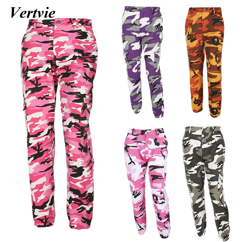 Loose Camouflage Running Pants Women Sports Fitness Gym Pants Denim with Phone Pocket Printed Outdoor Sportswear Jogger Trousers