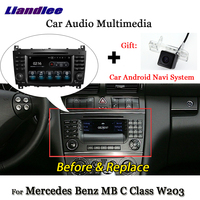 Liandlee Android 7.1 For Mercedes Benz C Class W203 C180 C200 C230 C320 C350 Radio Carplay Camera GPS Navi Navigation Multimedia