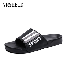 VRYHEID Men Slippers New Summer Mens Shoes Casual Beach Sandals Fashion Outdoor Indoor Home Slippers Non-slip Floor Flip Flop цены онлайн