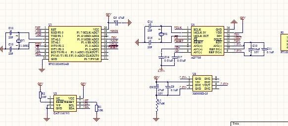 Pt1000 Temperature Sensor Schematic File Pt1000 Sensor With Stc12c4052ad Ad7705 Adm2483 Rs485