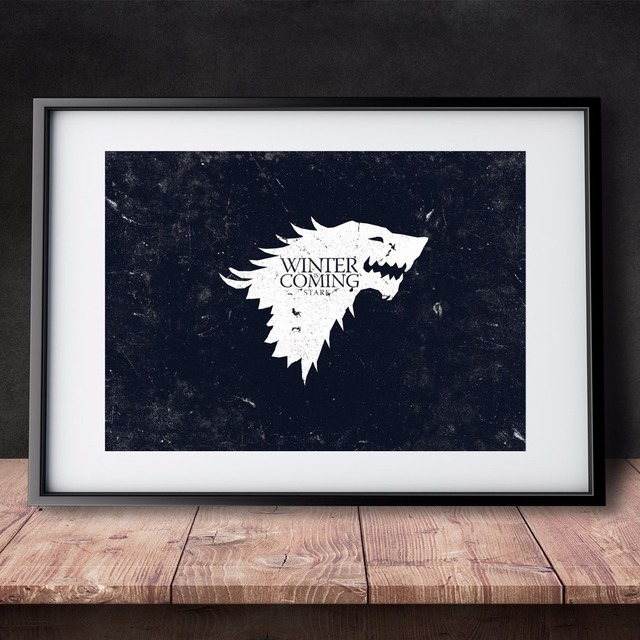 Game Of Thrones Winter Coming Canvas Art Print Painting Poster Vintage Wall Pictures Room Home Decoration Wall Decor No Frame