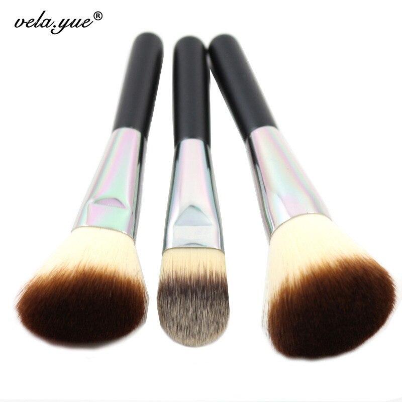 Lidschatten-applikator Pro Gesicht Make-up Pinsel Set 3 Kabuki Pinsel Powder Foundation Creme Erröten Bronzer Highlighter Contour Kosmetik Schönheit Werkzeuge Kit Einen Einzigartigen Nationalen Stil Haben Make-up-utensilien & Zubehör