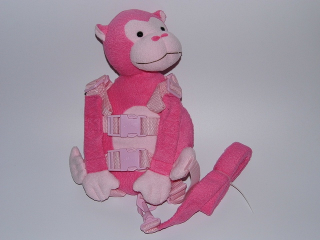 2 in 1 Harness Buddy Pink Monkey Baby Safety Animal Toy Backpacks Bebe Walking Reins Toddler Leashes Kid Keeper GB-016