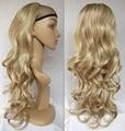 Мода 3/4 Половина Парик Осень Длинные Вьющиеся Волосы Осень Основные Браун Смешанный Блондинка Парик для Женщин #14H613