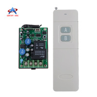 AC220V 1CH RF Wireless Remote Control Delay Time Switch System Multi function Receiver With 2 Button 3000M Remote Transmitter