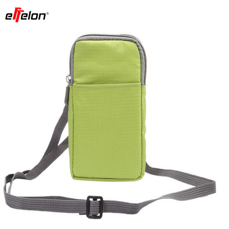 Outdoor 3 Pockets 2 Zippers Universal Phone Pouch Wallet Belt Clip Bag for Samsung Galaxy S7 S6 edge S5 S4 S3 Note 7 5 4 3 Case