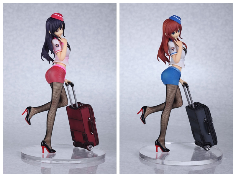 Sexy Big Boobs Breast Naked Girl Action Figure Airline Yoko stewardess 26cm Toy font b Doll