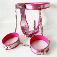 NEW Female Adjustable Stainless Steel Chastity Belt With Vaginal Plug Leg Ring Chastity Devices BDSM Sex Toys For Women