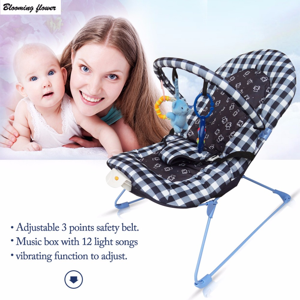 Baby Chair Adjustable Cradle Sleeping Rocking Chair For Newborns Detachable Toy Music Box Baby Stroller Carriages Accessories music massage detachable folding back to multi stall adjustment rocking chair crib cradle bed