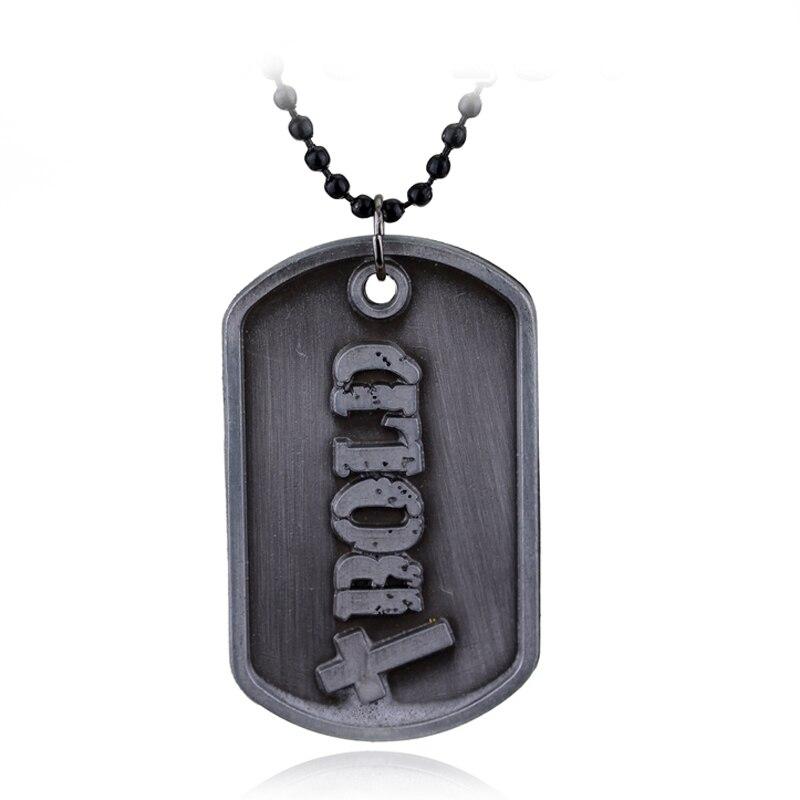 Dongsheng ювелирное ожерелье с надписью «God» Джошуа 19 быть сильным и смелым библейским стихом, стихами, буквами, смелыми собачьими бирками s -30