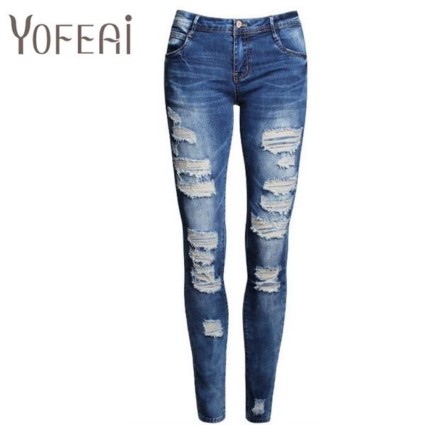 yofeai new 2017 women pants fashion sexy jeans for women
