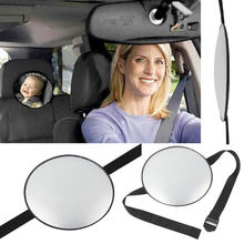 New Car Back Seat Mirror Baby Facing Rear Ward View Headrest Mount Mirror Square Safety Baby Kids Monitor(China)